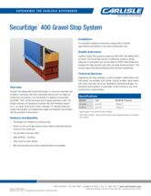 SecurEdge 400 Gravel Stop System Product Data Sheet