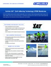 SAT (Self-Adhering Technology) EPDM Sell Sheet