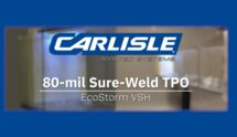 Hail Cannon Video - 80-mil Sure-Weld TPO over EcoStorm VSH