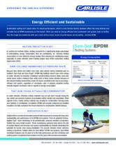 Energy Efficient and Sustainable EPDM Sell Sheet