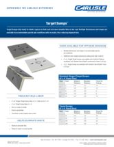 Polyiso Target Sump Sell Sheet